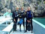 PADI Divemaster posieren im Marine Park