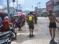 Songkran Wasser Festival in Thongsala, Koh Phangan