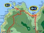 Karte vom Nordwesten Koh Phangans, Chaloklum Diving