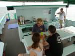 Chaloklum Diving Boot oberes Deck
