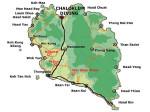 Karte von Koh Phangan im Golf von Thailand