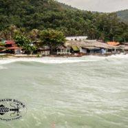 Ein bisschen reale Regenzeit im Golf von Thailand!