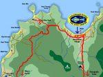 Karte vom Nordwesten Koh Phangan, Chaloklum Diving