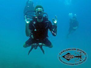 Chaloklum Diving Sicherheitsstopp bei Sail Rock